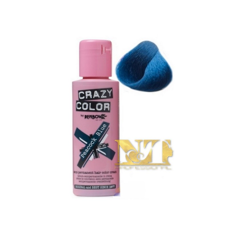 CRAZY COLOR PEACOCK BLUE N° 45 100 ML