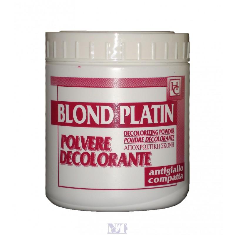HC BLOND PLATIN DECOLORANTE 450 G ANTIGIALLO COMPATTA etichetta rossa